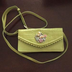 Brighton green wallet crossbody